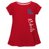 Mississippi Rebels Rebels Red Solid Short Sleeve Girls Laurie Top - Vive La Fête - Online Apparel Store