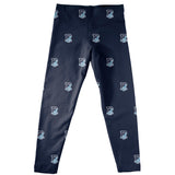 Rhode Island Rams Leggings Navy All Over Logo - Vive La Fête - Online Children's Apparel