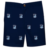 Rhode Island Rams Vive La Fete Boys Game Day All Over Logo Navy Structured Shorts with Side Pockets - Vive La Fête - Online Children's Apparel
