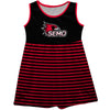 Southeast Missouri Redhawks Vive La Fete Girls Game Day Sleeveless Tank Dress Solid Black Stripes on Skirt - Vive La Fête - Online Apparel Store