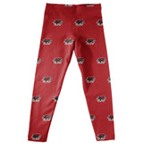 St. Josephs Hawks Leggings Red All Over Logo - Vive La Fête - Online Apparel Store