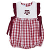 Texas A&M Big Check Maroon Girls Bubble - Vive La Fête - Online Apparel Store