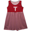 Troy Trojans Red Sleeveless Tank Dress With White Stripes - Vive La Fête - Online Children's Apparel