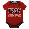 Troy Trojans Red Boys Onesie Short Sleeve - Vive La Fête - Online Children's Apparel