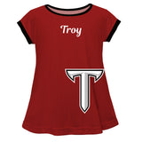 Troy Trojans Red Short Sleeve Laurie Top - Vive La Fête - Online Children's Apparel