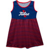 Tulsa Golden Hurricane Blue Sleeveless Tank Dress With Red Stripes - Vive La Fête - Online Apparel Store