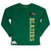 Alabama At Birmingham Blazers Logo Green Long Sleeve Fleece Sweatshirt Side Vents - Vive La Fête - Online Apparel Store