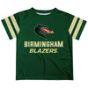 Alabama At Birmingham Stripes Green Short Sleeve Tee Shirt - Vive La Fête - Online Apparel Store