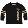 Central Florida Stripes Black Long Sleeve Tee Shirt - Vive La Fête - Online Apparel Store