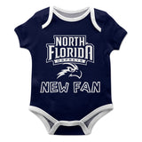 North Florida Ospreys Vive La Fete Infant Game Day Blue Short Sleeve Onesie New Fan Logo and Mascot Bodysuit - Vive La Fête - Online Children's Apparel