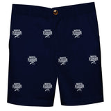 North Florida Ospreys Vive La Fete Boys Game Day All Over Logo Blue Structured Shorts with Side Pockets - Vive La Fête - Online Children's Apparel