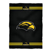 Southern Mississippi Stripes Black Fleece Blanket - Vive La Fête - Online Apparel Store