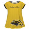 Southern Mississippi Big Logo Gold Short Sleeve Girls Laurie Top - Vive La Fête - Online Apparel Store