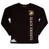 United States Military Academy Black Knights Logo Black Long Sleeve Fleece Sweatshirt Side Vents