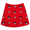 Southern Utah University Thunderbirds Skirt Red All Over Logo - Vive La Fête - Online Children's Apparel