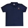 Virginia Cavaliers Embroidered  Navy Polo Box Shirt Short Sleeve