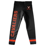 Virginia Cavaliers Verbiage And Logo Black Stripes Leggings - Vive La Fête - Online Apparel Store