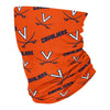 Virginia Cavaliers All Over Logo Orange Neck Gaiter - Vive La Fête - Online Apparel Store