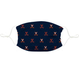 Virginia Cavaliers Face Mask Navy All Over Logo