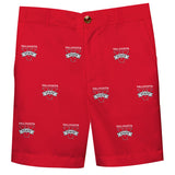 Valdosta Blazers Vive La Fete Boys Game Day All Over Logo Red Structured Shorts with Side Pockets - Vive La Fête - Online Apparel Store