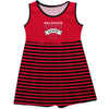 Valdosta Blazers Vive La Fete Girls Game Day Sleeveless Tank Dress Solid Red Logo Stripes on Skirt - Vive La Fête - Online Apparel Store