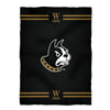 Wofford Stripes Black Fleece Blanket - Vive La Fête - Online Apparel Store