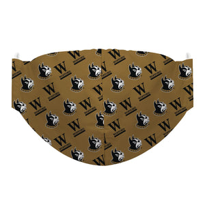 Wofford Terriers Face Mask Gold - Vive La Fête - Online Children's Apparel