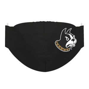 Wofford Terriers Face Mask Solid Black - Vive La Fête - Online Children's Apparel