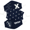 Xavier University Muskateers 3 Ply Face Mask 3 Pack Game Day Collegiate Unisex Face Covers Reusable Washable - Vive La Fête - Online Apparel Store