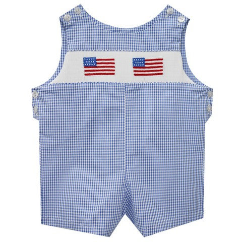 4Th Of July Smocked Shortall - Vive La Fête - Online Apparel Store