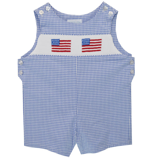 July 4th Smocked Shortall - Vive La Fête - Online Apparel Store