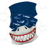 Sharks Navy Face Mask Set of Three - Vive La Fête - Online Apparel Store