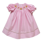 Bunnies Garden Smocked Pink Check Bishop - Vive La Fête - Online Apparel Store