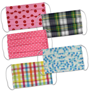 Polka Dots and plaid Bulk Mask Bundle - Vive La Fête - Online Children's Apparel