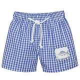 Sailfish Smocked Royal Big Check Swimtrunk - Vive La Fête - Online Apparel Store
