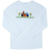 Smocked Harvest Boys White Knit Long Sleeve Tee Shirt - Vive La Fête - Online Apparel Store