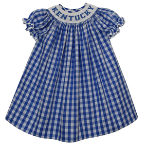 Kentucky Smocked Bishop Short Sleeve With Insert - Vive La Fête - Online Children's Apparel
