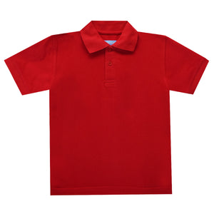 Red Polo Box Shirt Short Sleeve