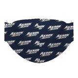 Akron Zips Face Mask Navy All Over Logo - Vive La Fête - Online Children's Apparel