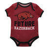 Arkansas Solid Red Boys Onesie Short Sleeve - Vive La Fête - Online Children's Apparel