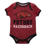 Arkansas Solid Red Boys Onesie Short Sleeve