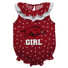 Arkansas Swirls Red Girls Sleeveless Onesie - Vive La Fête - Online Children's Apparel