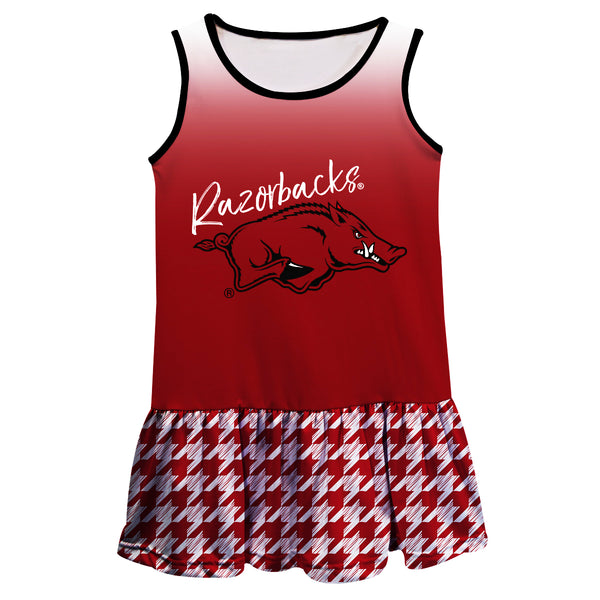 Arkansas Degrade Red Sleeveless Lily Dress