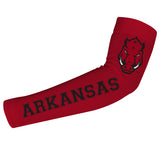 Arkansas Razorbacks Red Arm Sleeves Pair