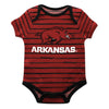 Arkansas Stripe Red and Black Boys Onesie Short Sleeve - Vive La Fête - Online Apparel Store