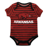 Arkansas Stripe Red and Black Boys Onesie Short Sleeve - Vive La Fête - Online Children's Apparel