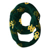 Baylor Bears All Over Logo Green Infinity Scarf