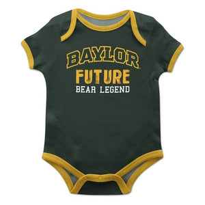 Baylor Solid Green Boys Onesie Short Sleeve - Vive La Fête - Online Children's Apparel