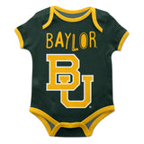 Baylor Bears Green Solid Short Sleeve Onesie