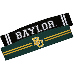 Baylor Bears Green And Black Stripes Headband Set